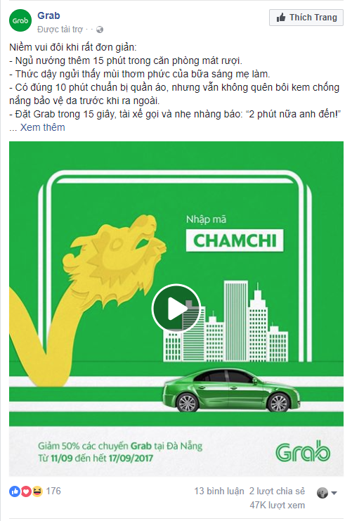 Mẫu quảng cáo Facebook 3